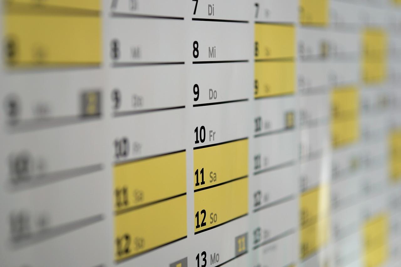 Exámenes de septiembre – calendario